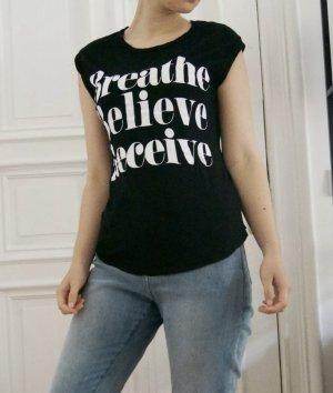 Amisu T-shirt zwart-wit