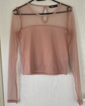 Amisu Blusa tipo body color rosa dorado