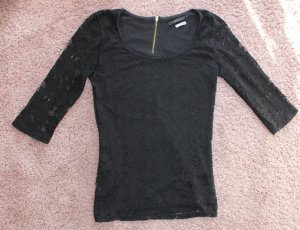 Bershka Lace Top black