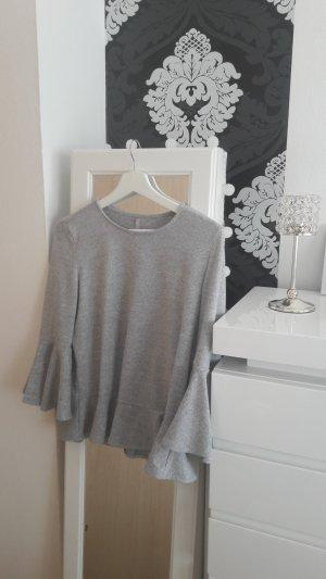 NKD Volanten top lichtgrijs-grijs Polyester