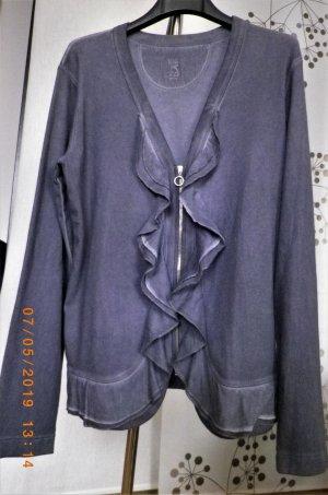 Oberteil mit Zipp und Rüschen