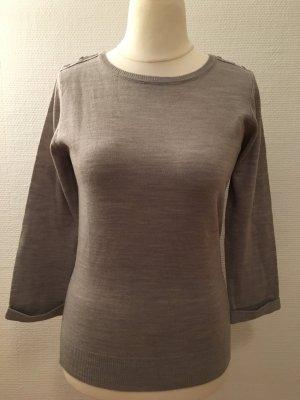 Oberteil Pullover Shirt grau beige Gr. M