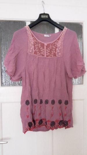 Oberteil - rosa - mit Musterung - Größe 42 - hochwertig