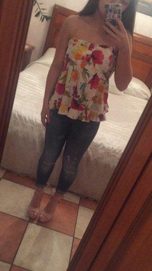 Camisa de un solo hombro multicolor