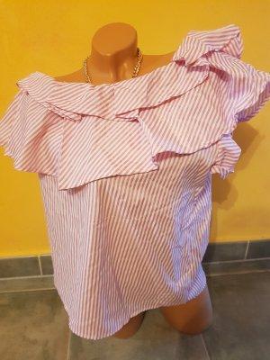 Camisa blanco-rosa