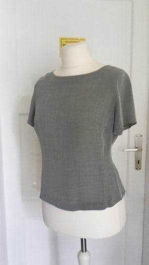 Cropped shirt lichtgrijs