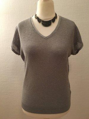 Oberteil Shirt kurzarm silber Gr. M NEU