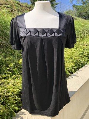 H&M Boatneck Shirt black viscose
