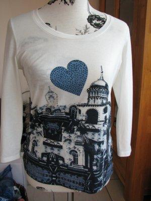 Apanage Shirt wit-blauw