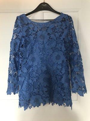 Lace Top neon blue