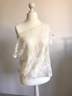 Vero Moda Top en maille crochet blanc-crème