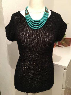 Oberteil Strickshirt Pullunder Pullover Basic schwarz warm Gr. S