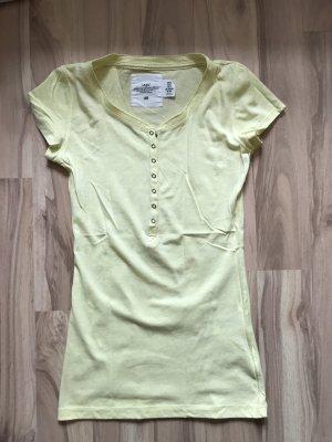 Oberteil t-shirt gelb h&m l.o.g.g größe xs 34 neu