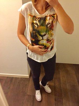 Oberteil Top kurzärmlig Shirt T-Shirt Aufdruck Löwe locker