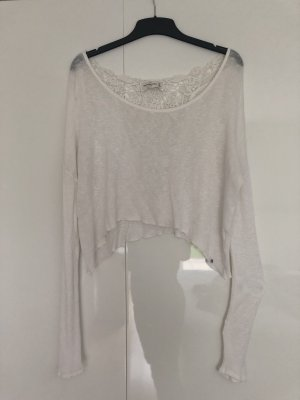 Abercrombie & Fitch Cropped Shirt white-natural white