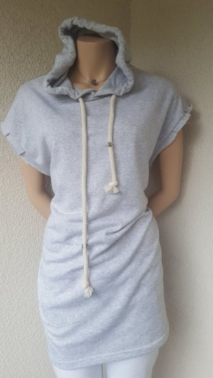 Bershka Hooded Shirt light grey