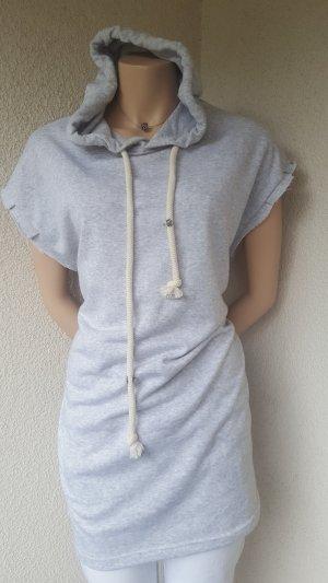 Bershka Camicia con cappuccio grigio chiaro