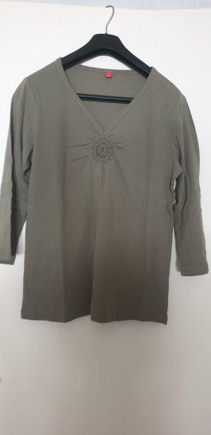 Esprit Maglia con scollo a V marrone-grigio