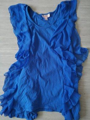 H&M Garden Collection Hemdtuniek blauw-neon blauw