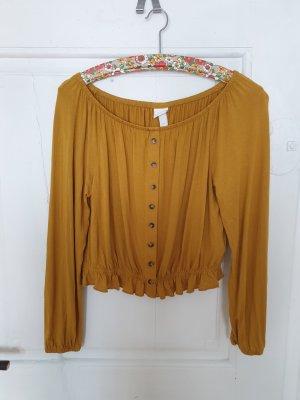 H&M Blouse met lange mouwen donker oranje