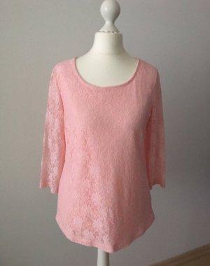 Impressionen Top de encaje rosa-rosa