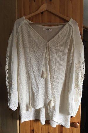 Pull & Bear Sweatshirt crème-blanc cassé