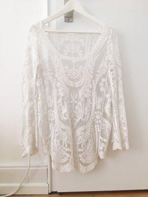 Sheinside Kanten blouse wit