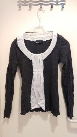 Vero Moda Crewneck Sweater anthracite-white