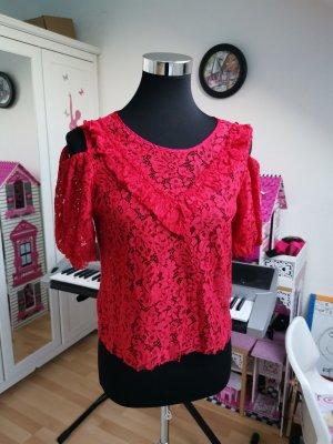 Zara Blouse Top dark red
