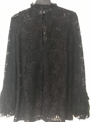 Zara Woman Blusa in merletto nero