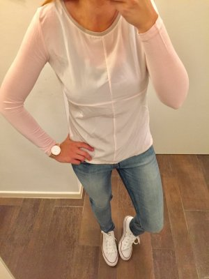 Oberteil vorne Bluse hinten stretchiger Stoff rosa langärmlig
