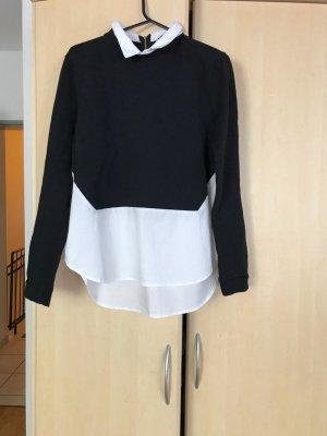 Colletto camicia nero-bianco