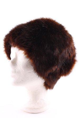 Oberwälder & Co Vienna Cappello in pelliccia marrone-nero stile stravagante