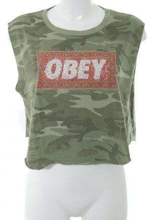 obey Cropped top camouflageprint extravagante stijl