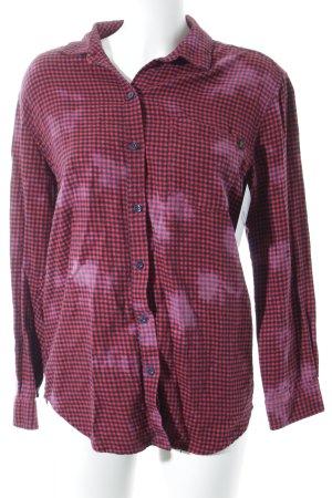 obey Camicia da boscaiolo nero-rosso motivo a quadri aspetto di seconda mano