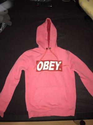 obey Jersey con capucha rosa