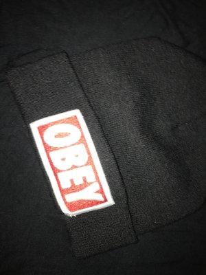 obey Cappello da panettiere nero-rosso scuro