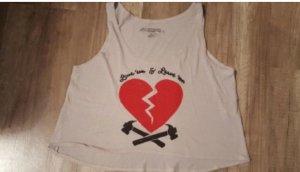 Obey Propaganda Top Crop Cropped Cropshirt Croptop Taupe Heart Herz