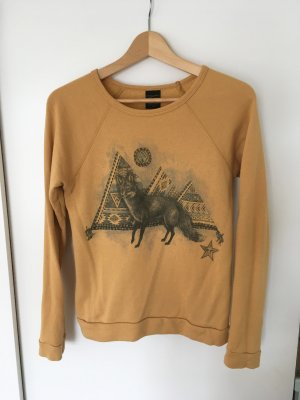 obey Sweater senfgelb mit Print, XS