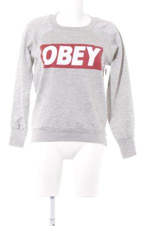 obey Sweatshirt hellgrau Casual-Look