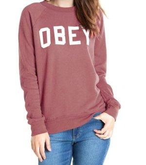 OBEY Sweatshirt M/L Sweater dunkelrot Vans zara acne ganni