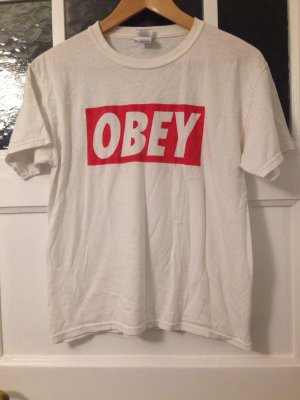 OBEY   T-Shirt   Größe M   weiß, rot   Fashion   Vintage