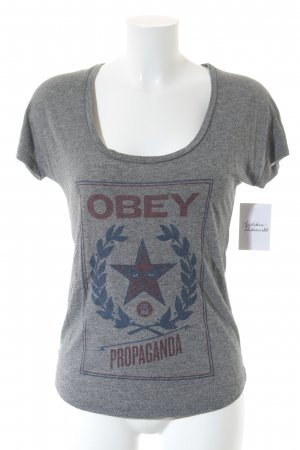 obey T-Shirt Motivdruck Casual-Look