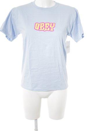 obey Camiseta letras impresas look Street-Style