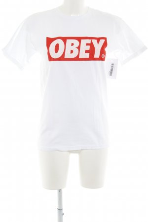 obey T-Shirt weiß Casual-Look