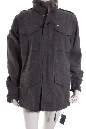 obey Wolljacke dunkelgrau Casual-Look