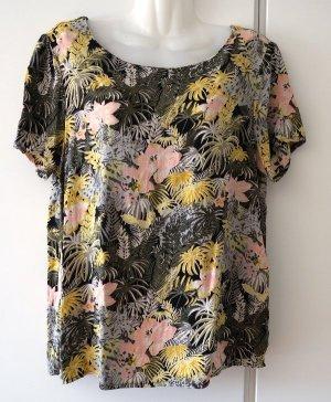 Object Bluse Shirt Gr. 38 (M) Flower Print Blumenmuster Hippie Boho Retro Mori