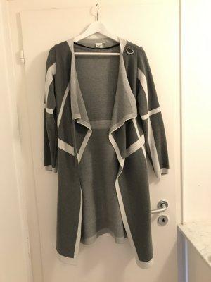 Object Cardigan S Strickjacke Jacke Mantel grau weiß Top Herbst
