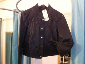 Object Leather Jacket black leather