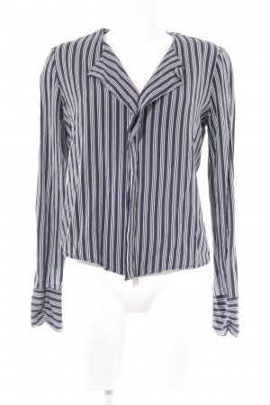 Object Hemd-Bluse dunkelblau-wollweiß Streifenmuster Casual-Look